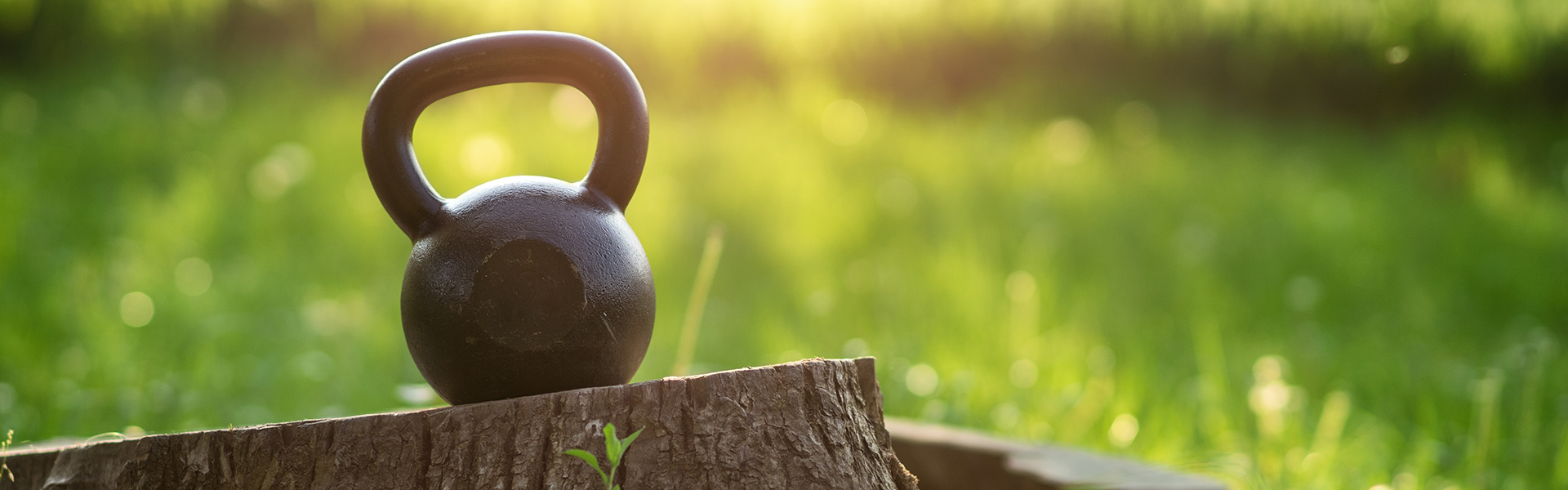 Kettlebell in nature